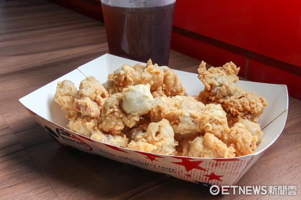 ▲▼皮脆肉多汁的炸雞讓人一試成主顧 還有網友超推的炸雞胗。德州美墨炸雞(圖/記者黃士原攝)