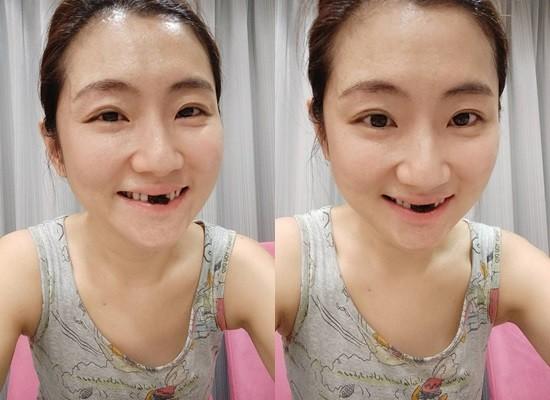 ▲▼Selina很滿意自己的手藝,吃到門牙上沾滿了巧克力。(圖/翻攝自Selina臉書)