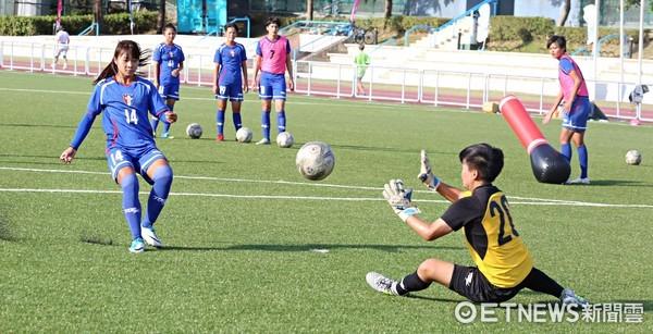 ▲世大運中華女足練習。(圖/記者張克銘攝)