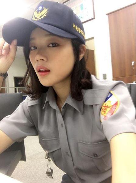 史上最正警察!她模特兒出身,榜首考進警大…網友湧進IG自首(圖/翻攝自網路)