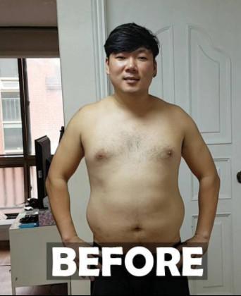 ▲▼油肚大叔「半年鏟22kg」炸6塊肌。(圖/翻攝自MyKoreanHusband IG)