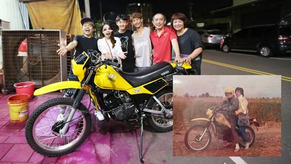 嘎嫂二伯買回10年前被偷的摩托車。(圖/翻攝自蔡阿嘎臉書)