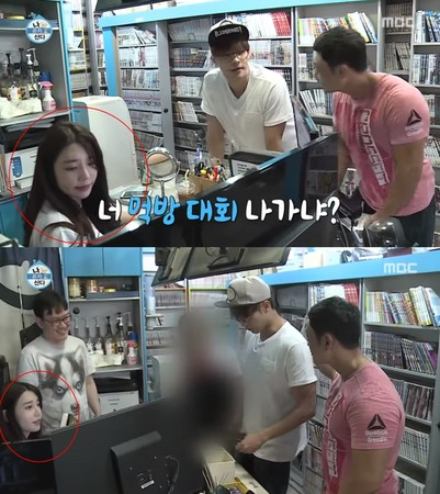 ▲正妹店員引起熱烈討論。(圖/翻攝自ATV K-Music Live SBS YOUTUBE)