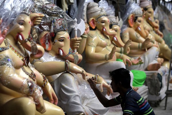 ▲▼印度象神,Ganesh。(圖/達志影像/美聯社)