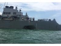 ▲▼美軍飛彈驅逐艦「馬侃號」(USS John S. McCain)撞商船。(圖/路透社)