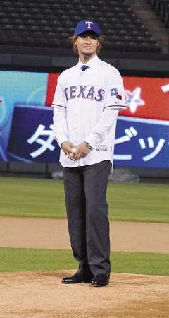 日本球星達比修2012年離婚後就傳出幽會明日花綺羅,但明日花裝傻不認。(東方IC)