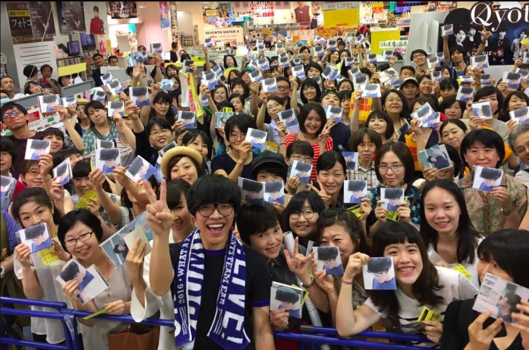▲盧廣仲在日本舉行簽唱會 。(圖/添翼提供)