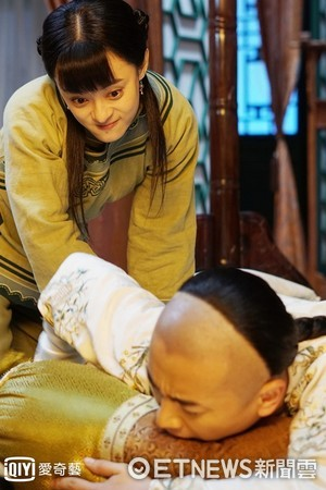 ▲孫儷在劇中時不時拳打腳踢。(圖/愛奇藝台灣站)