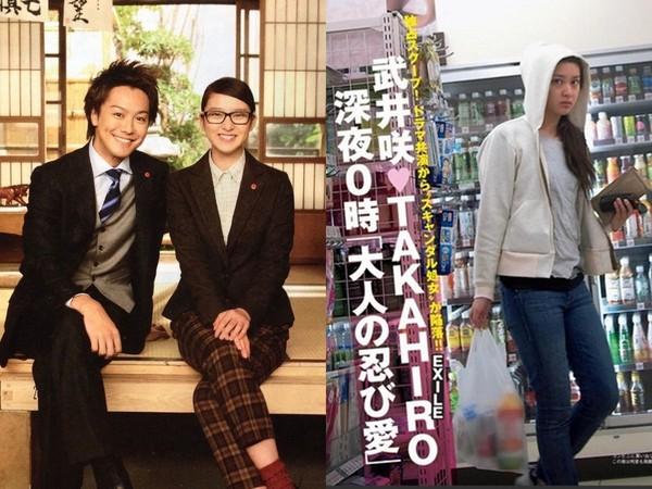 ▲武井咲和TAKAHIRO拍戲擦出愛火,公司否認她一句話打臉。(圖/翻攝自推特)
