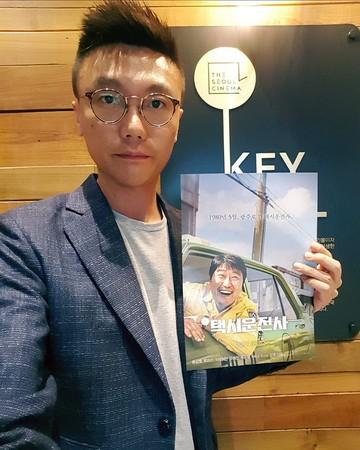 ▲搭配電影《我只是個計程車司機》,光州舉辦的特別展覽。(圖/鍾樂偉提供)