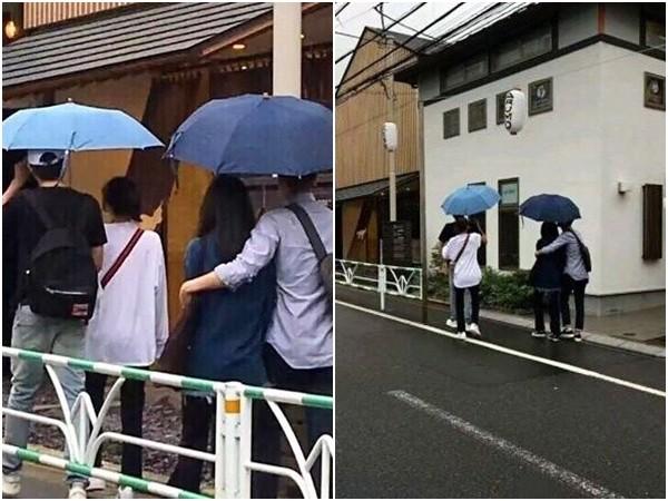 林更新姐弟戀抓包,和趙又廷夫妻日本Double Date。(圖/翻攝自微博)