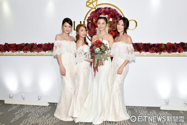 ▲▼陳喬恩、賴薇如、屈旻潔出席趙小喬、劉亮佐婚禮。(圖/記者張一中攝)