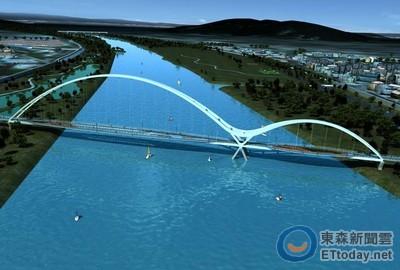 4观景台 自行车道路网 新北第三座景观桥年底完工