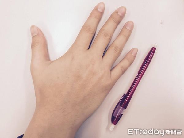 示意图,与本文无关.(图/记者刘 波兰最新一项研究显示,男性手指