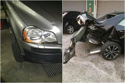 瑞典戰車奇蹟!「台灣神A」帥倒車遭VOLVO撞上 結果車主崩潰