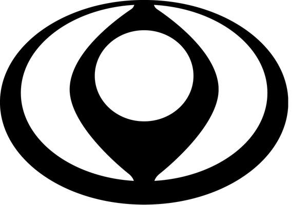 马自达早期商标,椭圆形的外圈则代表著太阳(图/翻摄自mazda)