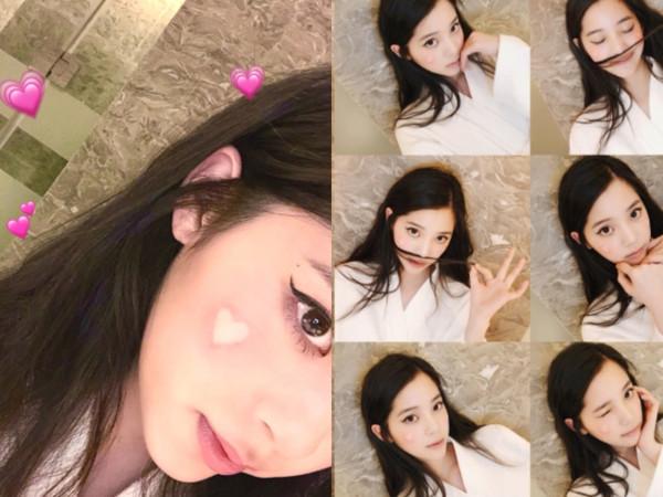 欧阳娜娜示范超萌「爱心腮红妆」!5步骤变身可爱系少女
