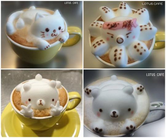 全台超萌动物系咖啡 立体拉花,漂浮棉花糖疗愈爆表!