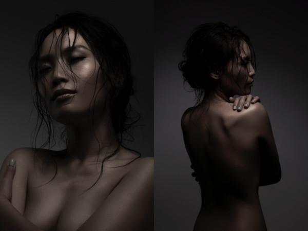 女歌手上空全裸拍专辑封面! 唱片公司全选背面照