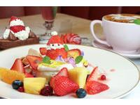 ▲為台灣聖誕節設計 Café del SOL推期間限定款鬆餅甜點套餐。(圖/記者黃士原攝)