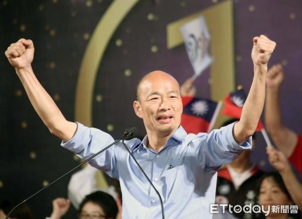 ▲高雄市長當選人韓國瑜;選前之夜▼。(圖/記者屠惠剛攝)