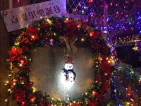 ▲▼  石牌2處最美巷弄聖誕景點 迷你纜車、銀河隧道超浪漫!(吉賢聖誕巷)。(圖/記者林育綾攝)