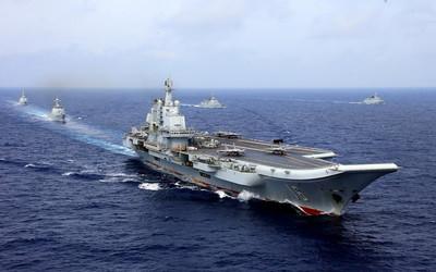 航母過台海 陸外交部:家門口訓練
