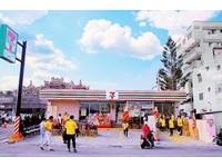 ▲雲林麥寮鄉7-11麥豐門市3D神明彩繪。(圖/禮財企業社授權提供,林柏翰攝)