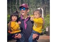 ▲咘咘、Bo妞去兒童新樂園玩。(圖/翻攝自Facebook/修杰楷)