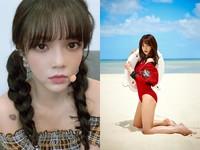 ▲她是AOA智珉?爆瘦凹臉變成另一個人。(圖/翻攝自智珉IG)
