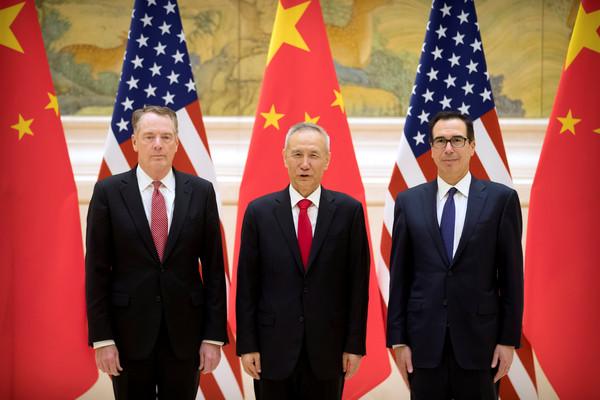 ▲▼中美貿易談判14日北京登場。(圖/路?#31119;? width=