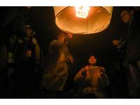 ▲▼新北市平溪天燈。(圖/記者?#24535;?#26107;攝)