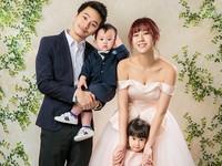 ▲楊銘威、方志友帶女兒Mia、兒子Sunny全家福。(圖/C.H. WEDDING提供)