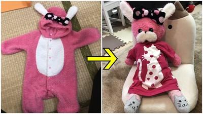 無法斷捨離!捨不得丟嬰兒包屁衣 二寶媽巧手縫變「第3個女兒」