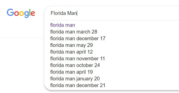 ▲▼「佛羅里達州男子挑戰」(Florida Man Challenge)。(圖/Google)