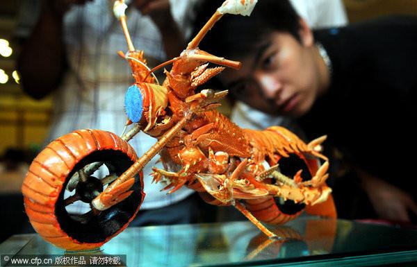 幼儿园吸管龙虾手工制作