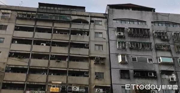 ▲▼花連地震,北市信義區大樓傾斜。(圖/記者黃彥傑攝)