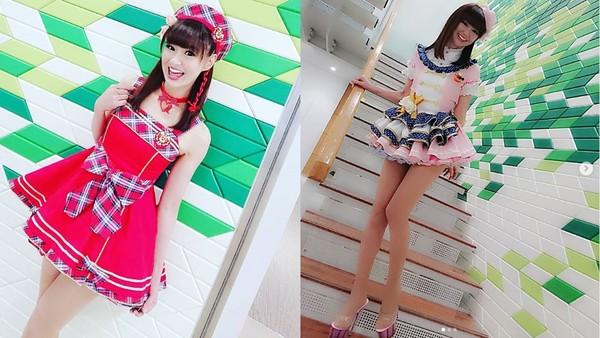 ▲▼日本女谐星かつみさゆり50岁cosplay成16岁女高中生仍超正