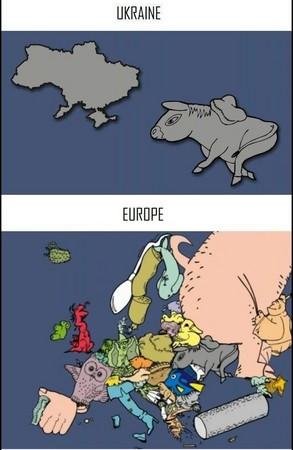 先来看看真正的欧洲地图长什麼样子. 再来瞧瞧恶搞的地图 . . . . .