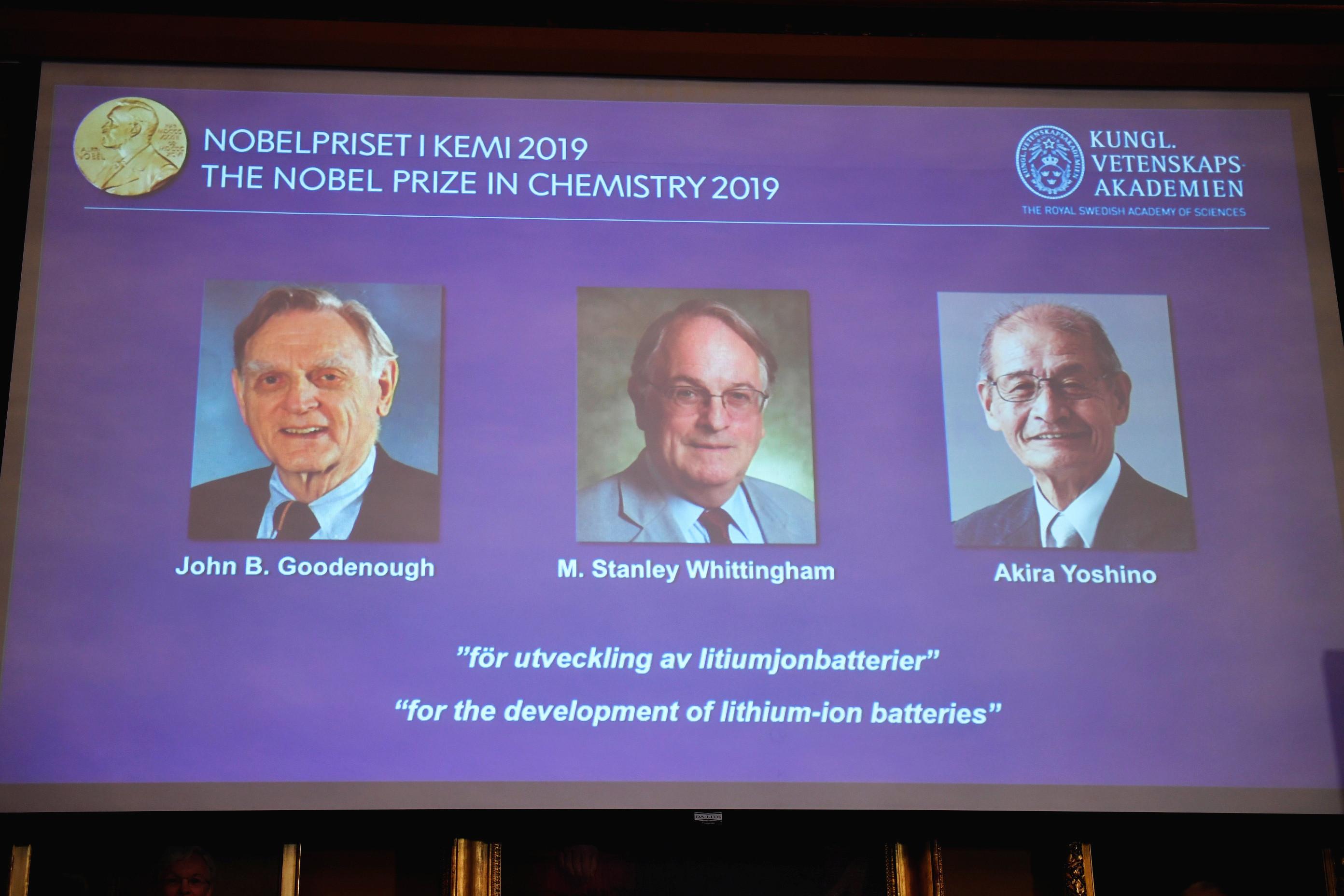 ▲▼ 2019年諾貝爾化學獎得主公布。(圖/路透)