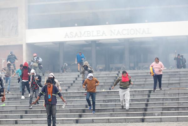 ▲▼厄瓜多示威。(圖/路透)
