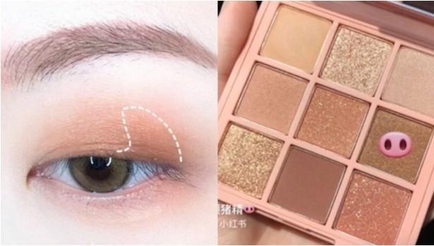 奶茶色眼妆