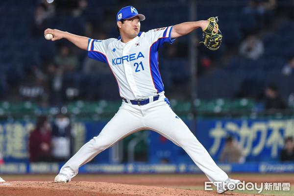 ▲12強棒球賽複賽,韓國隊。(圖/記者林敬旻攝)