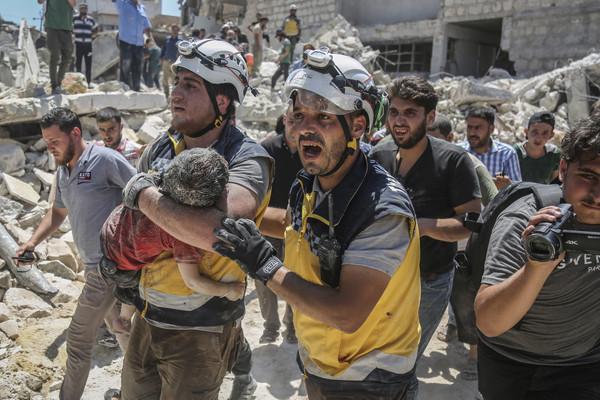 ▲▼人道救援組織「白頭盔」(White Helmets,白盔)。(圖/達志影像/美聯社)