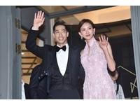 ▲▼林志玲、Akira婚禮,新人出來跟民眾致意。(圖/記者李毓康攝)