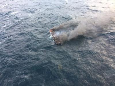 濟州外海漁船大火 11船員失蹤