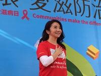 ▲▼陶晶瑩出席世界愛滋日活動。(圖/記者洪巧藍攝)