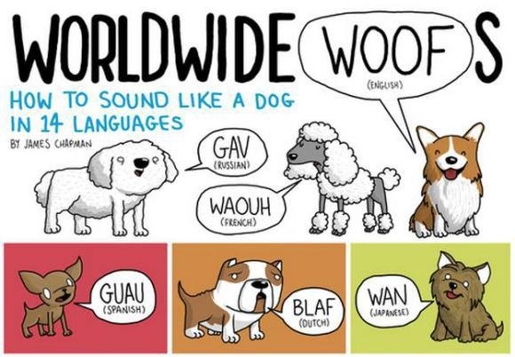 11张图让你秒懂各国怎麼形容动物叫声