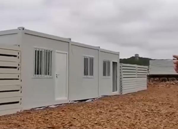 ▲▼火神山第一間病房蓋好了。(圖/翻攝《人民日報》)