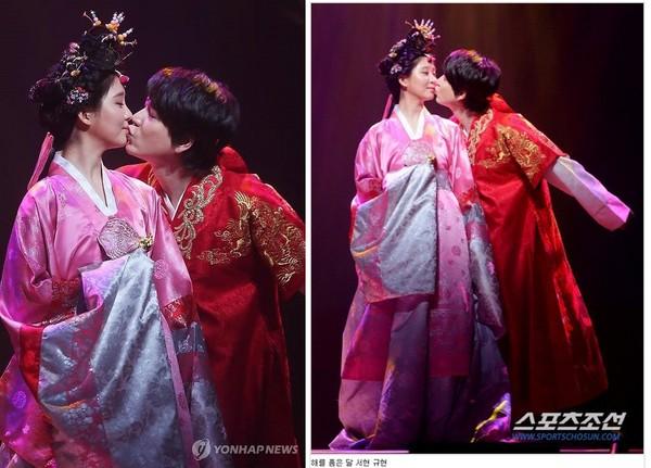SJ圭贤 拥抱太阳的月亮 吻少时徐玄 网友 心都碎了
